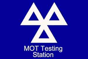 MOT test station sign